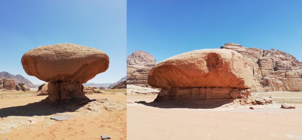 Mushroom Rock Wadi Rum - Atrakcje w Jordanii