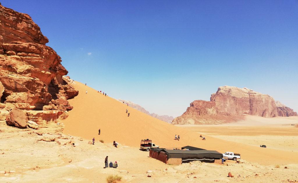 Wielkie wydmy Wadi Rum - Atrakcje w Jordanii